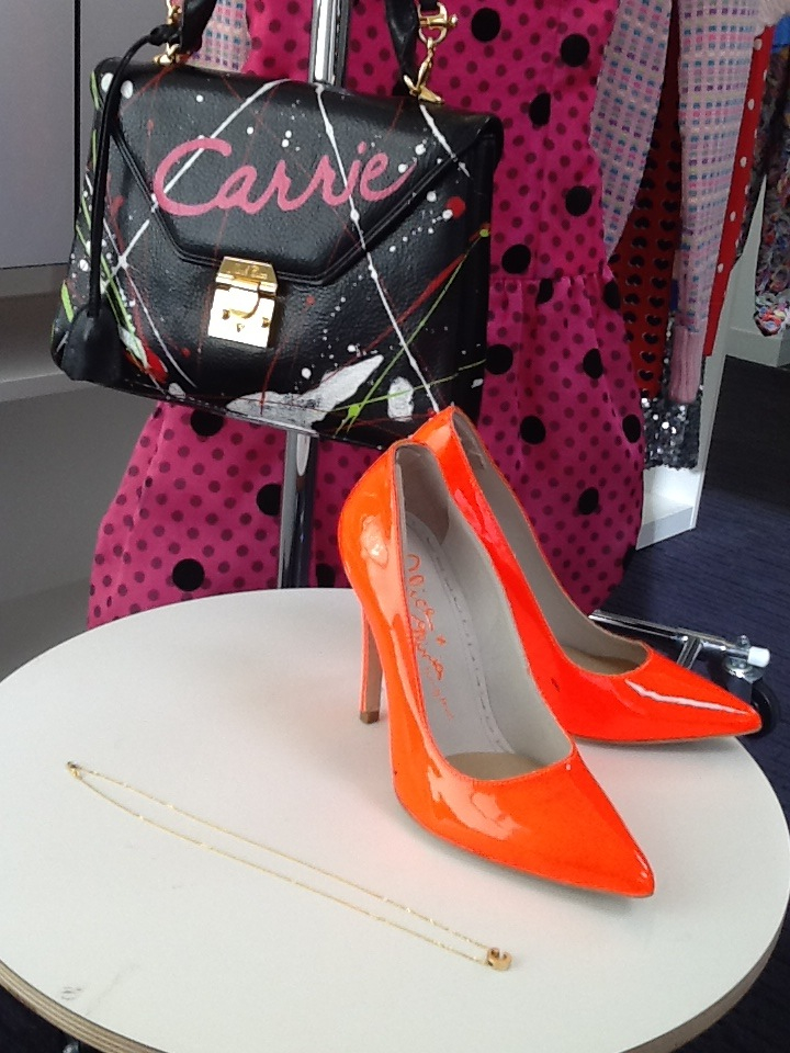 Eric Daman's choices for teen Carrie Bradshaw's closet: Vintage Scaasi Dress, Alice+Olivia Shoes, Alex Woo Necklace