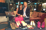 """Eric Daman @EricDaman_Style and Lauren Mikler in the  @HuffPostLive studio for a segment on """"How To Shop Your Closet."""""""