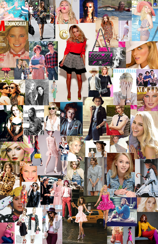 'The Carrie Diaries' costume designer Eric Daman drew '80s fashion inspiration from a variety of sources, as shown on his 80's Carrie Bradshaw board here. Alexa Chung, Molly RIngwald, Kelly Emberg, Kim Alexis, even the actress who plays Carrie herself, AnnSophia Robb, as a bit of prep, a dash or quirk and a little vintage to create signature style.